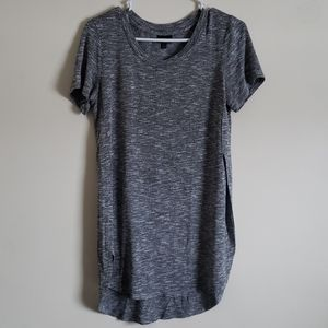 Mossimo Gray Marbled Side Split Shirt